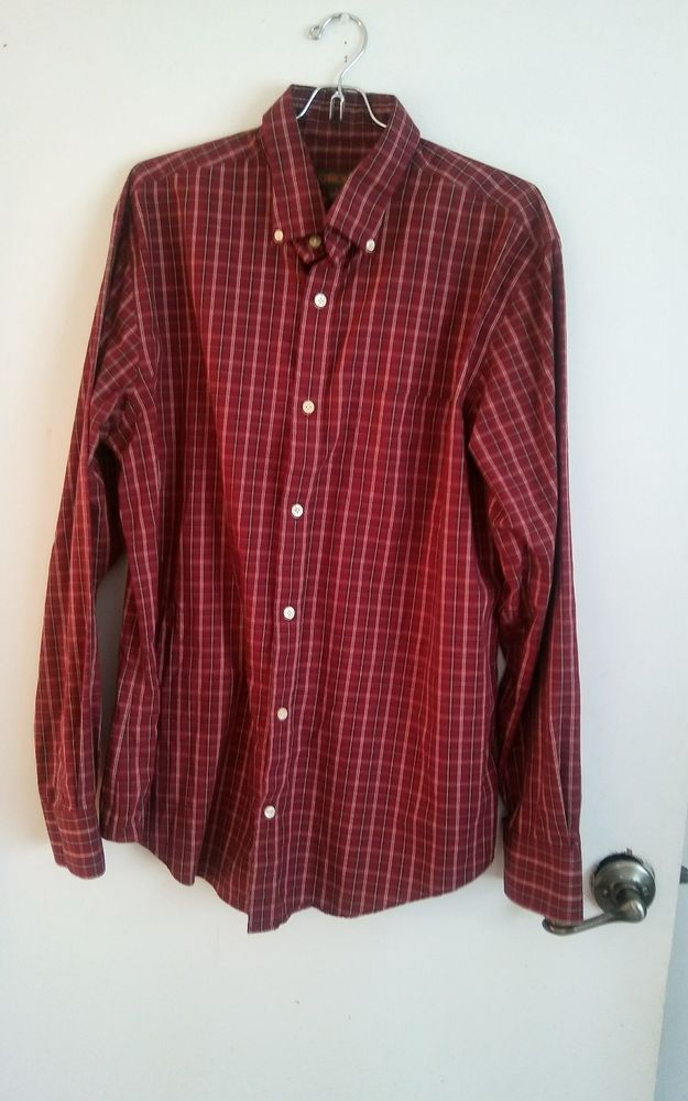 Men's Cherokee Brand Button Front Shirt Size Large #Cherokee #ButtonFront