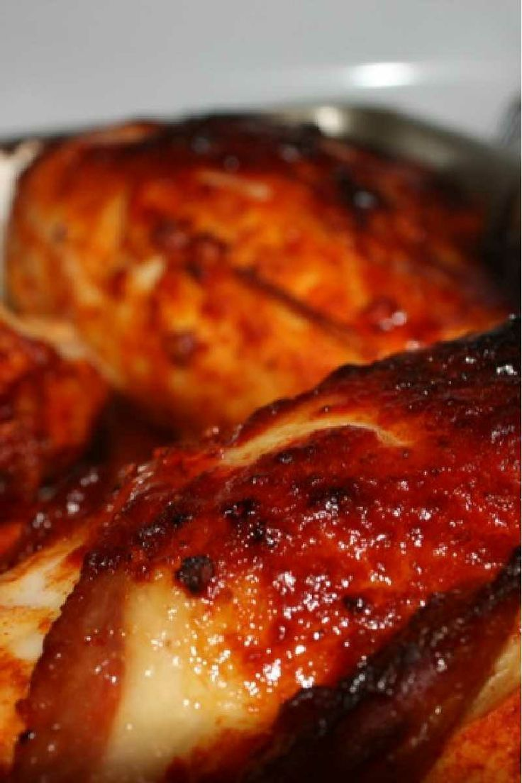 Weight Watchers Sticky Chicken #Recipe Only 5 #Weight_Watchers Points! - Italian Food Stock Foto