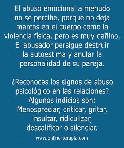 ¿Reconoces el abuso emocional? #AbusoEmocional #Manipulación