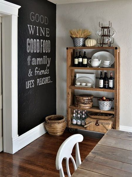 Rustoleum chalkboard feature walls ideas in dining room for Kitchen feature wall ideas