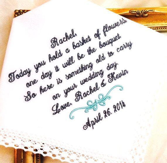 Sweet Flower Girl Gift | Wedding Hankerchief for Flower Girl | Natalie Bradley Events | Soiree | Southern Event Planning | Event Crafts