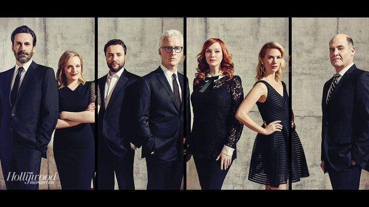From left: Jon Hamm, Elisabeth Moss, Vincent Kartheiser, John Slattery, Christina Hendricks, January Jones and show creator Matthew Weiner.