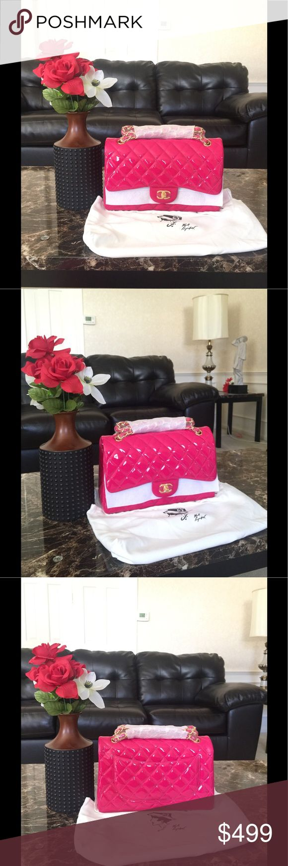 Pink Chanel jumbo flap bag Just received this Pink Chanel jumbo flap bag. Brand new with tag. Price reflects authenticity. No trades! Bags Shoulder Bags