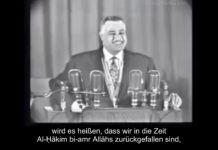 Rede von Gamal Abdel Nasser 1966 Herrliches Video aus Ägypten: Der Staatspräsident und das Kopftuch…