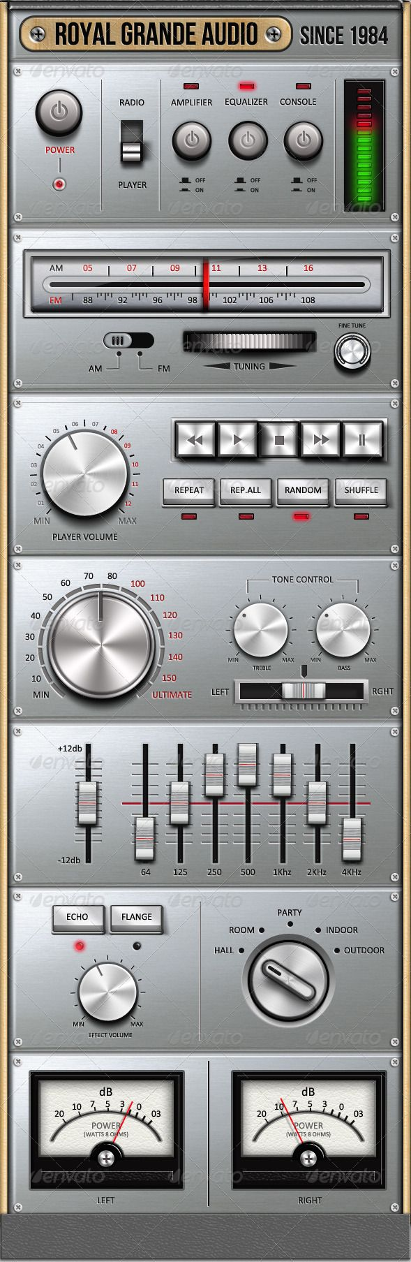 Royal Grande Very Old Audio Set UI - GraphicRiver Item for Sale