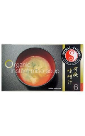 Spiral Organic Miso Instant Soup (10g x 6) 60g - $9.95  Organic Instant Miso soup is made from naturally fermented soybean paste (miso) that has been made from unpasteurised organic miso, naturally fermented for over one year in aged cedar kegs. The soup is easily prepared by simply adding boiling water. The result is a rich and flavourful, gourmet quality, vegetarian soup infused with genuine Japanese miso quality and flavour!