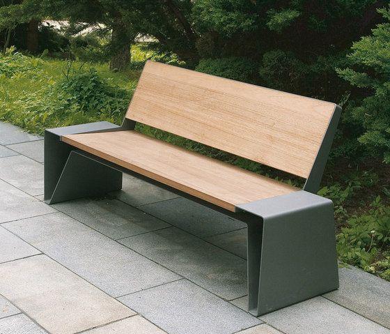 exterior bench. radium park bench by mmcité | exterior benches
