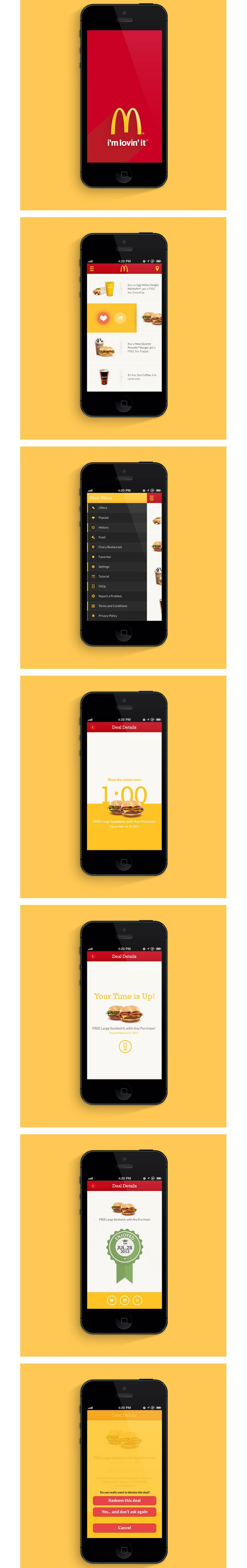 Mc Donald's McD App. If you like UX, design, or design thinking, check out theuxblog.com