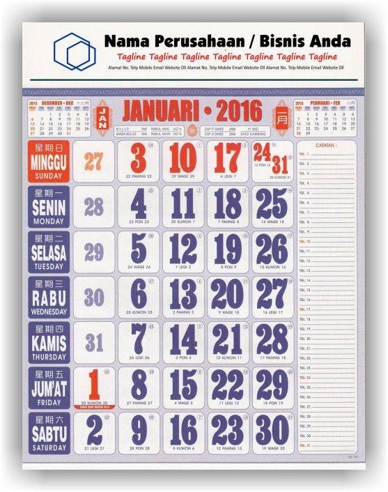 Kalender Cetak bagi Perusahaan dan Contoh Desain Kalender ...