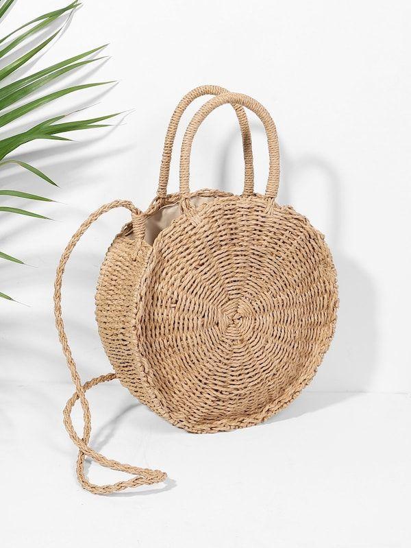 d029ca8bbd780 Круглая соломенная сумка | SHEIN | МОНИТОРИНГ интернет-магазинов ...