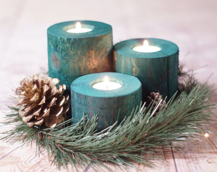 Christmas Candles Holiday Decor Wood Candle Holder Christmas Decorations Rustic In 2020 Christmas Candle Centerpiece Holiday Decor Christmas Christmas Centerpieces