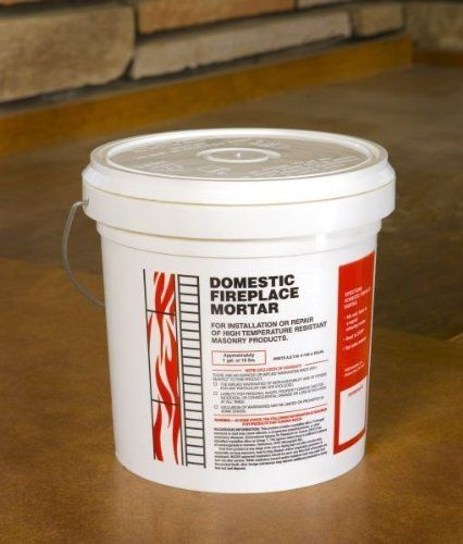 Lindemann 720611 Domestic Fireplace Mortar 15lb by Lindemann. $37.14. Great Gift Idea.. Manufactured to the Highest Quality Available.. Design is stylish and innovative. Satisfaction Ensured.. This pre-mixed Domestic Fireplace Mortar can be used to reset firebrick in the firebox. This is an air dry and heat set mortar with an application thickness is .125in to .25in maximum. Available in a 15 lb. tub.. Save 26% Off!