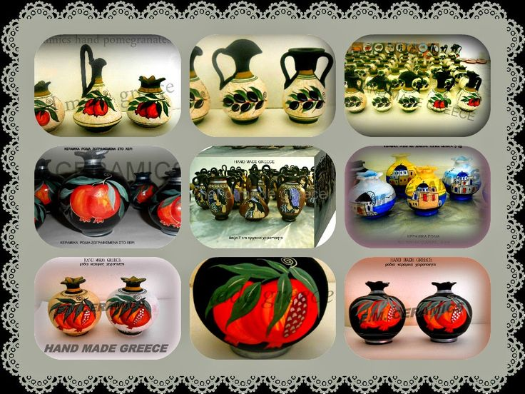 GREEK HANDMADE CREATIONS ALL BY HAND.CERAMIC MAGNETS. HOBBY