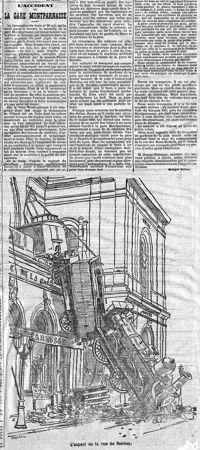 RÉTRO IMMO - En octobre 1895, un accident spectaculaire coûtait la vie à une marchande journaux et causait de gros dégâts à la façade de la gare. Le Figaro relate un chantier hors normes.