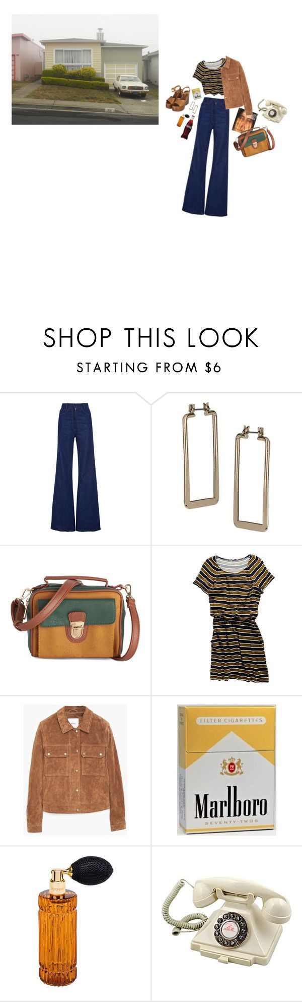 """""""Fargo 1973"""" by agirlisagun ❤ liked on Polyvore featuring Topshop, Madewell, MANGO, Diptyque, Retrò, women's clothing, women, female, woman and misses"""