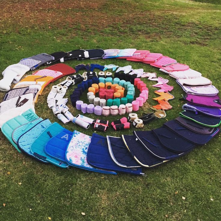 Saddle pad collection belonging to Annie Wagner from The Salt Lick http://www.saltlickequine.com