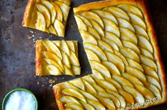 Easy Salted Caramel Apple Tart Recipe | Just a Taste