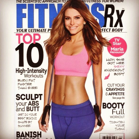 Maria Menounos for fitness magazine May's issue