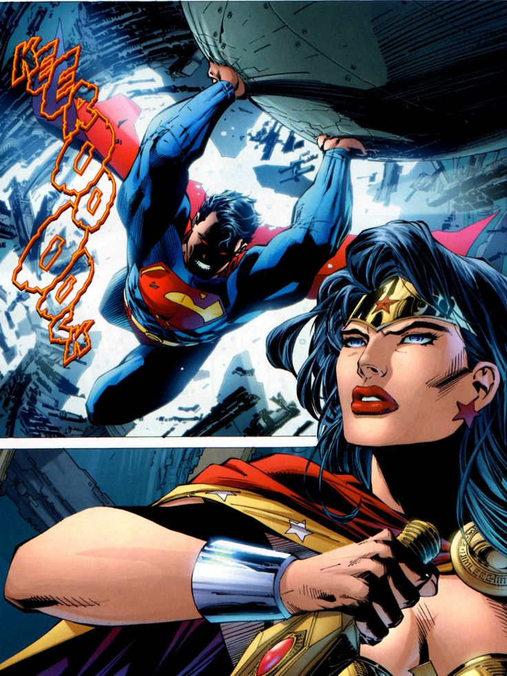 20 best artistic interpretations jim lee images on - Superman wonder woman cartoon ...