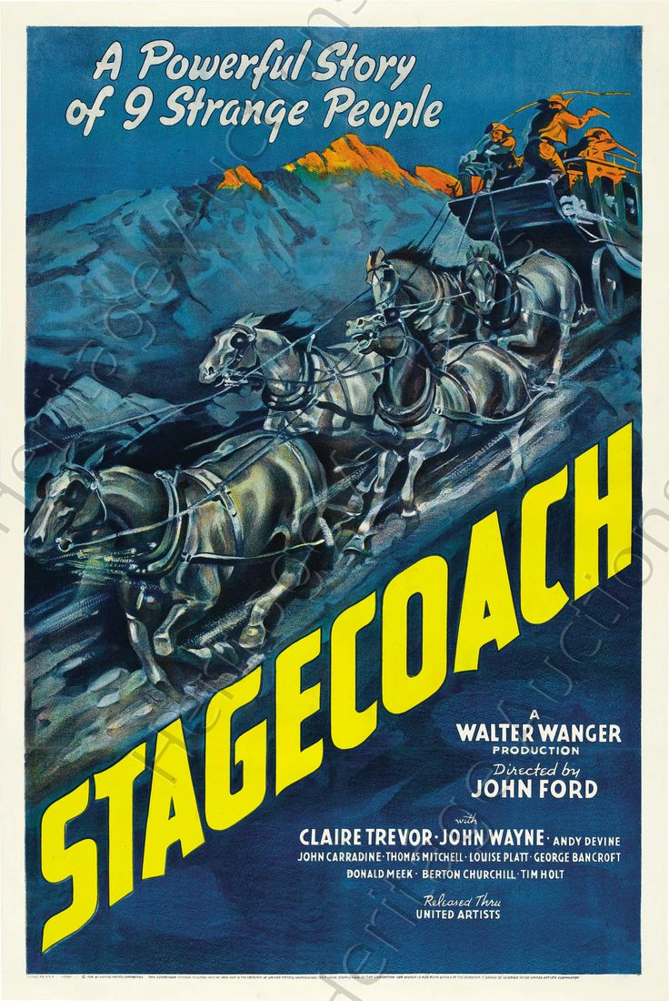 1939, Stagecoach: Film, Genres   The Red List