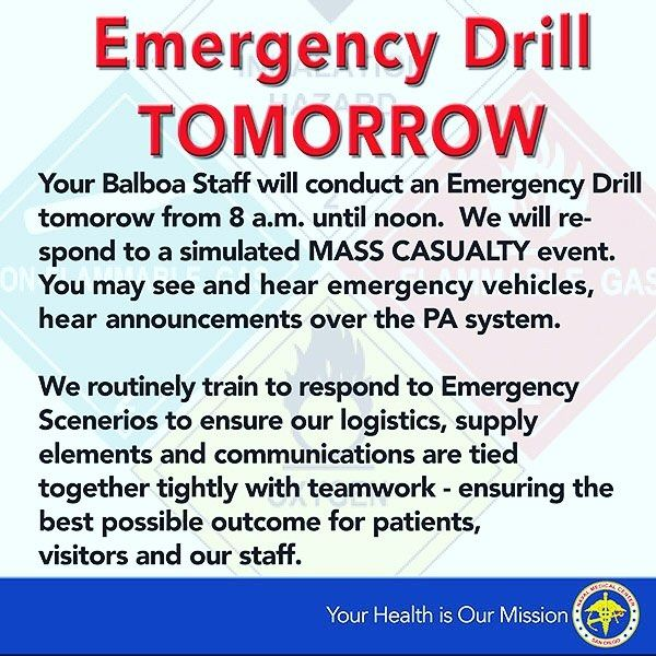 We have a BIG training exercise tomorrow! We train every day to stay sharp and prepared for anything but tomorrow you may see our teams in action! #instagood #navymedicine #preparation #drill