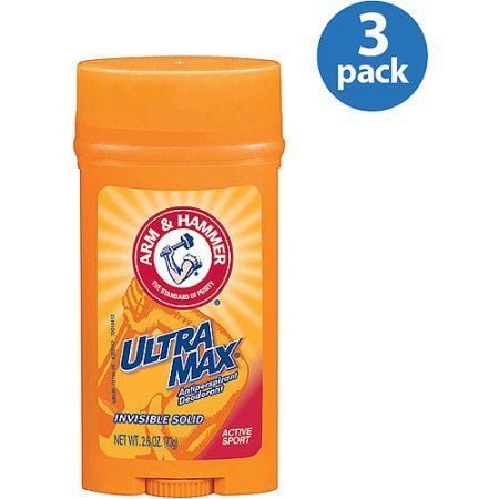 Arm ; Hammer Ultramax Active Sport Invisible Solid Antiperspirant Deodorant, 2.6 oz (Pack of 3), Multicolor