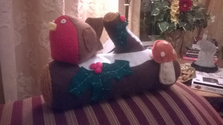 Felt Christmas Log