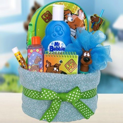 kids gift baskets | Scooby Doo Gift Baskets | Towel Cakes for Kids