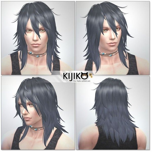 Kijiko Shaggy Hair For Male Sims 4 Downloads Sims 4