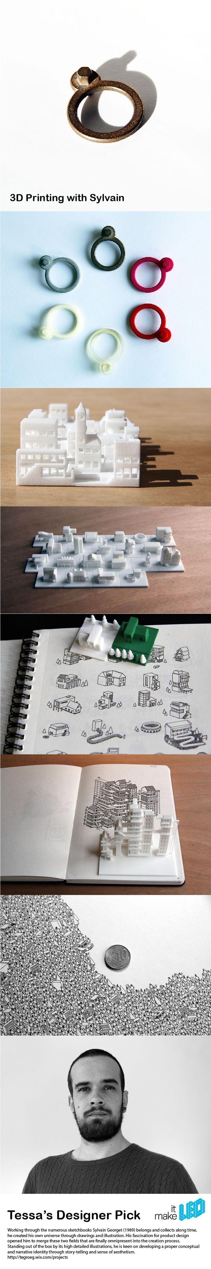 Tessa's Designer Picks - 3D printed designs by Sylvain Tegroeg