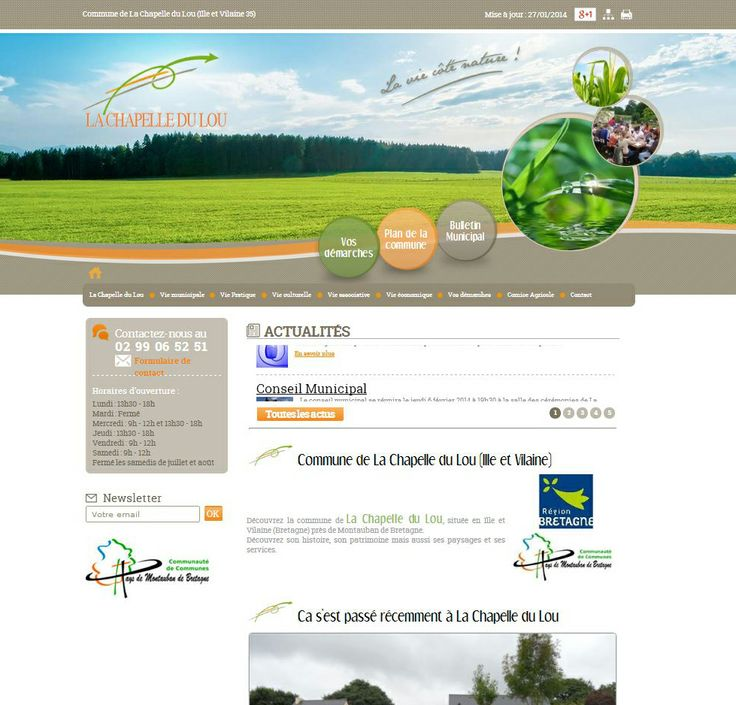 Site internet de la mairie de La Chapelle du Lou en Ille et Vilaine, commune faisant partie de la Communauté de Communes de Montauban-de-Bretagne / Saint-Méen-le-Grand