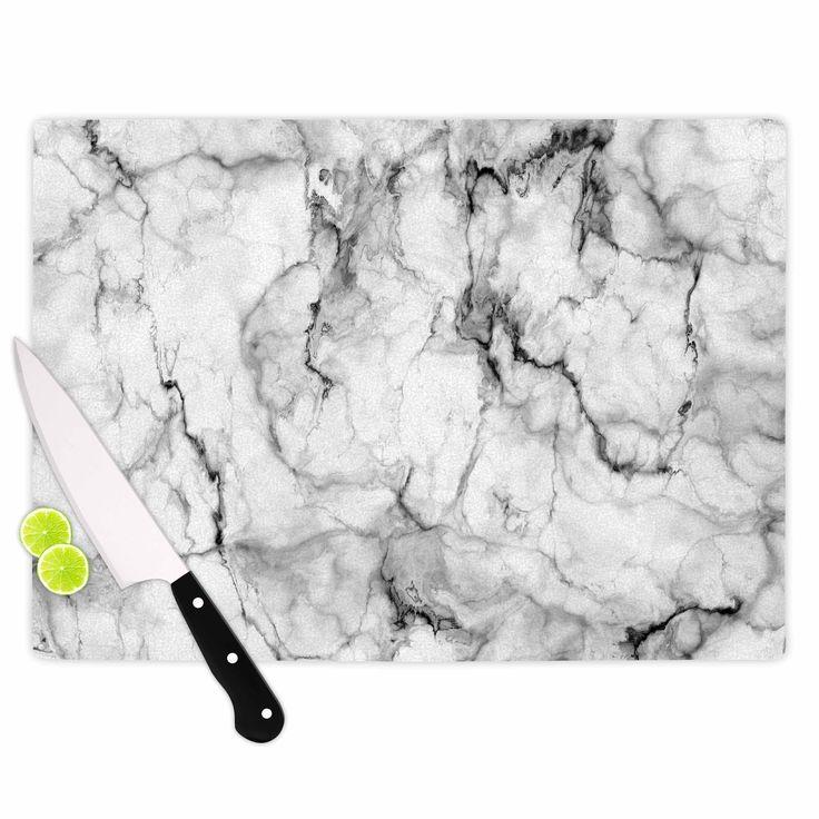 Kess InHouse Chelsea Victoria 'Marble No 2' Black Modern Cutting Board