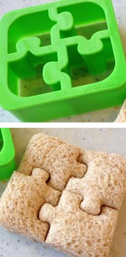 ♣ For $14.50 you can buy this terrific, fun 4 piece Puzzle Sandwich Crust Cutter at Amazon.com! Play with your food!! :D