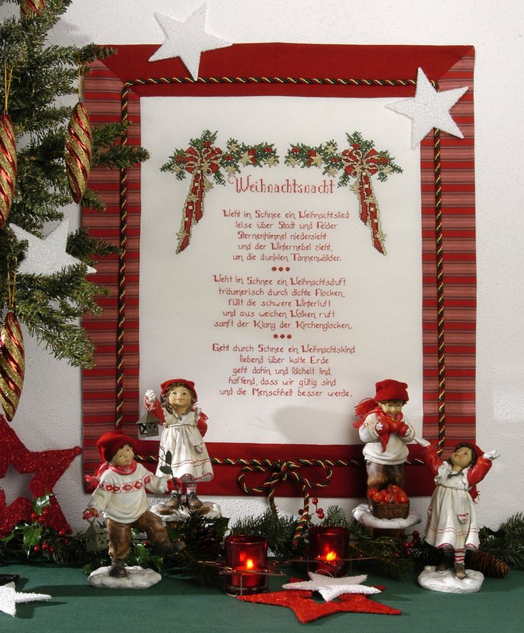 weihnachtsgedicht in kreuzstich design gerlinde gebert. Black Bedroom Furniture Sets. Home Design Ideas