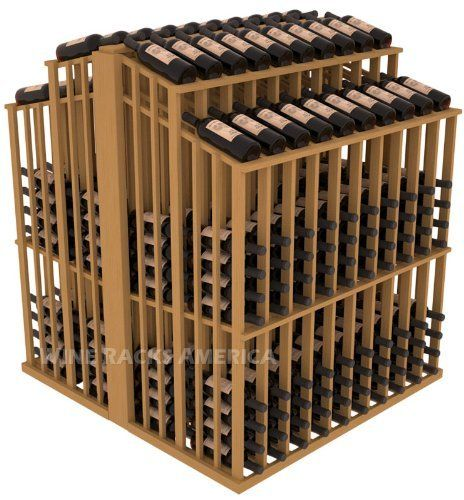 "Wooden 480 Bottle Double Reveal Aisle Wine Cellar Rack Storage Kit in Pine with Oak Stain by Wine Racks America®. $1104.60. Create endless wine displays and aisle ways. 100% Lifetime Warranty backed by our Price Match Guarantee!. 1 3/8"" Toe Kick Standard: We lift our racks up higher so your bottles are not sitting on the floor. Eco-friendly wood sources in sustainable forests. Some Assembly May Be Required. Easy-edge Bottle Holders: Measuring 11/16"" x 11/16"" x 1..."