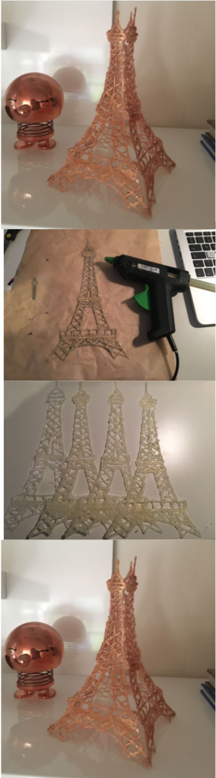 Diy Eiffel Tower with a glue gun <3 easy to make ;)