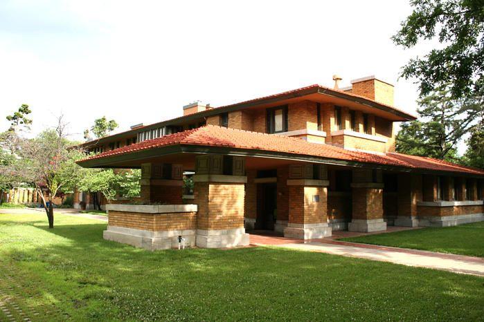 The Allen-Lambe House/Henry J. Allen House. Prairie Style