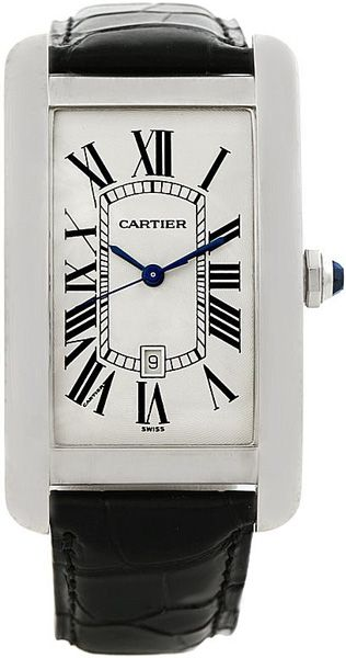 W2603256 Cartier Tank Americaine Mens Automatic Watch - Buy Now Guaranteed 100% Authentic with FREE Shipping at AuthenticWatches.com
