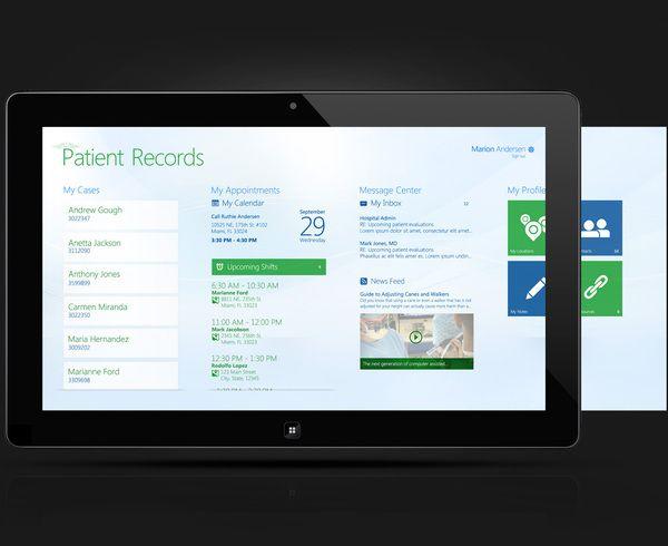 Windows 8 - Patient Records App by Natali Arocha, via Behance