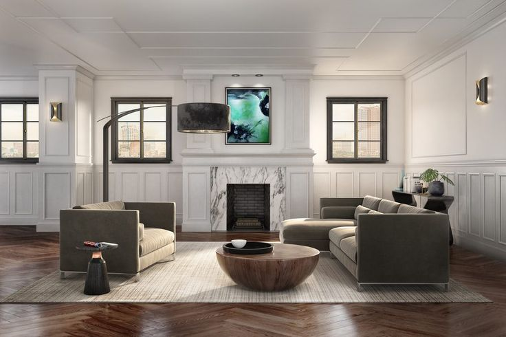 Use #wainscot #moulding from our Metrie #FashionForward Collection to create rich features for any room. #walltreatment #livingroom