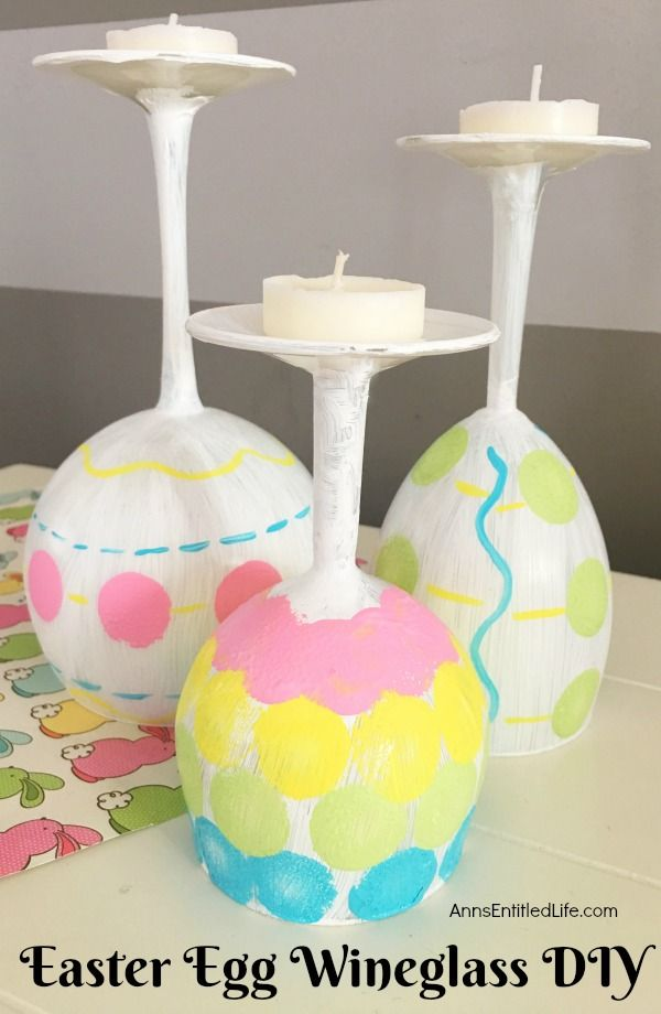 Easter Egg Wineglass DIY. Make your own adorable Easter egg
