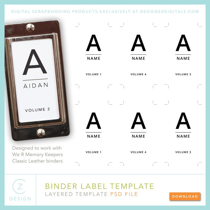 Free binder labels from Cathy Zielske