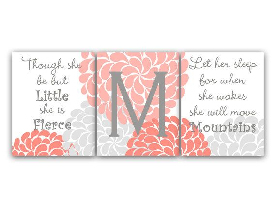 Nursery Wall Art Though She Be But Little Let by HuggableMeDesigns, $15.00
