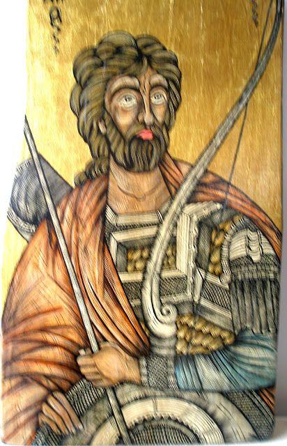 Άγιος - ΝΙΚΗΤΑΣ...Νίκην ἔστησας, κατὰ τῆς πλάνης, νίκης εἴληφας, ἄφθαρτον γέρας, ἐπαξίως Νικήτα φερώνυμε, σὺ γὰρ νικήσας ἐχθρῶν τὴν παράταξιν, διὰ πυρὸς τὸν ἀγῶνα ἐτέλεσας. Μάρτυς ἔνδοξε, Χριστὸν τὸν Θεὸν ἱκέτευε, δωρήσασθαι ἠμὶν τὸ μέγα ἔλεος.