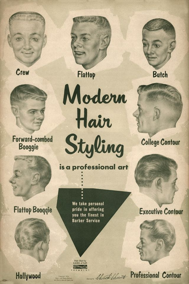 "Hairstyles For Thick Hair Men - Men's modern hair styles, 1950's. My dad in his flattop would say he got his ""ears lowered"" when he went for a trim."
