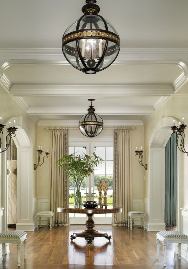 Luxurious and elegant transitional waterfront estate traditional entry new york k and michael whaley light fixtures are gorgeous
