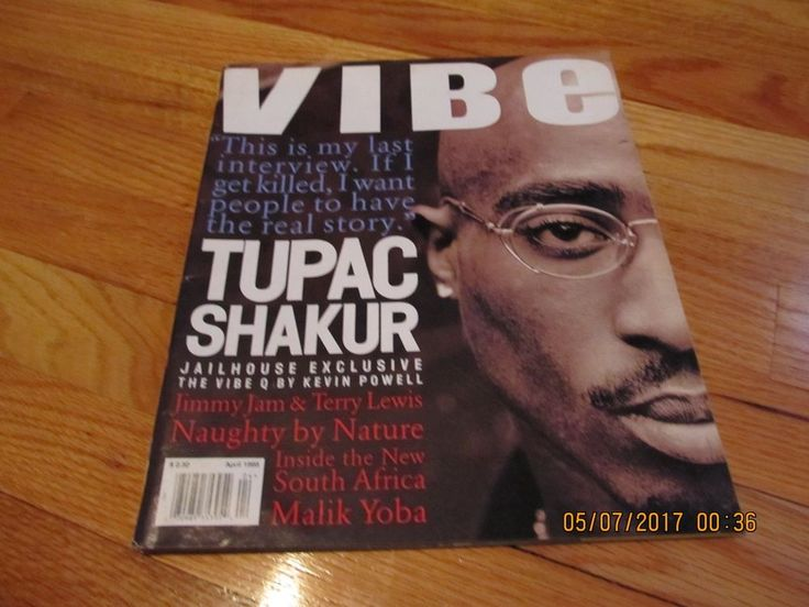 "VERY GOOD CONDITION- MAGAZINE IS COMPLETE AND CLEAN...GREAT COLLECTIBLE PIECE!!<br/><br/>NICE BACK ISSUE OF VIBE MAGAZINE- APRIL 1995 FEATURING THE COVER STORY ""JAILHOUSE EXCLUSIVE INTERVIEW TUPAC SHAKUR"" FEATURING TUPAC SHAKUR ON THE COVER. THE MAGAZINE IS IN VERY GOOD COMPLETE CONDITION DIRECT FROM MY PERSONAL COLLECTION! 