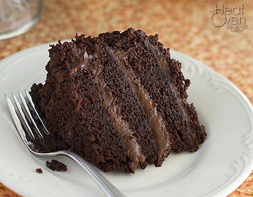 Pastel de chocolate Blackout ~ Calor Horno a 350