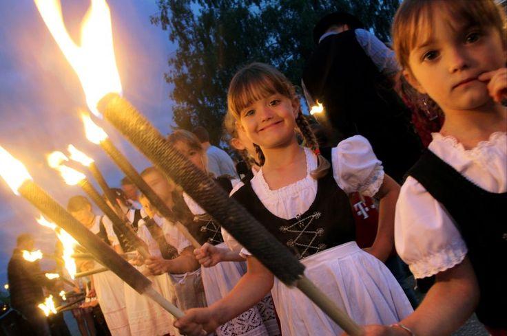 Summer Equinox Torch Parade in Bavaria