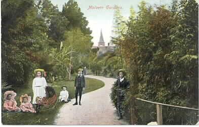 Malvern Gardens, ca. 1900.